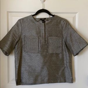 Cropped boxy blouse
